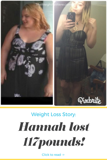 Hannah lost 115 pounds! See my before and after weight loss pictures, and read amazing weight loss success stories from real women and their best weight loss diet plans and programs. Motivation to lose weight with walking and inspiration from before and after weightloss pics and photos.