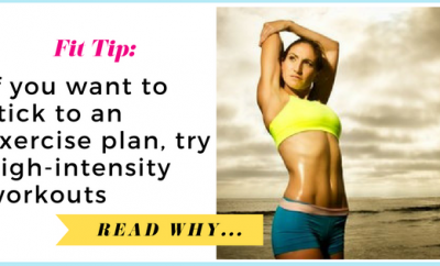 Couch potatoes take note: If you want to stick to an exercise plan, try high-intensity workouts  via TheWeighWeWere.com