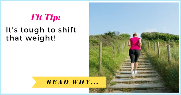 It's tough to shift that weight, studies show  via TheWeighWeWere.com