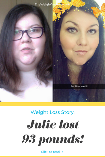 Julie lost 93 pounds! See my before and after weight loss pictures, and read amazing weight loss success stories from real women and their best weight loss diet plans and programs. Motivation to lose weight with walking and inspiration from before and after weightloss pics and photos.