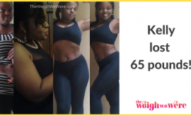 Read her story for inspiration! Black women before and after weight loss transformation. African American female fitness motivation workout photos and pictures. 30, 40, 50, 60, 100 pound weightloss Kelly Lost 65 Pounds