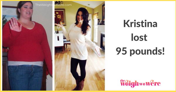 weight loss success stories  kristina lost 95 pounds and transformed her body for her kids