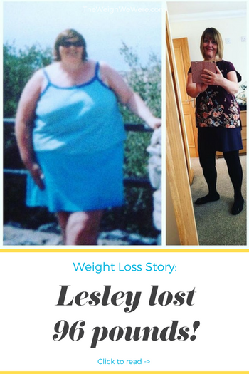Lesley lost 96 pounds! See my before and after weight loss pictures, and read amazing weight loss success stories from real women and their best weight loss diet plans and programs. Motivation to lose weight with walking and inspiration from before and after weightloss pics and photos.