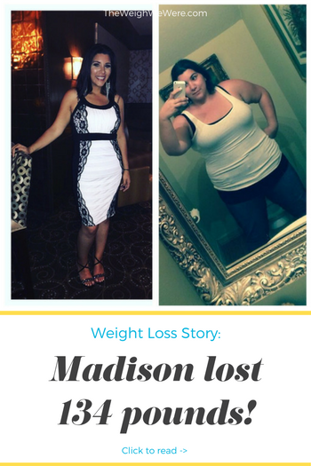 Madison lost 134 pounds! See my before and after weight loss pictures, and read amazing weight loss success stories from real women and their best weight loss diet plans and programs. Motivation to lose weight with walking and inspiration from before and after weightloss pics and photos.
