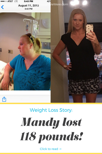 Mandy lost 118 pounds! See my before and after weight loss pictures, and read amazing weight loss success stories from real women and their best weight loss diet plans and programs. Motivation to lose weight with walking and inspiration from before and after weightloss pics and photos.