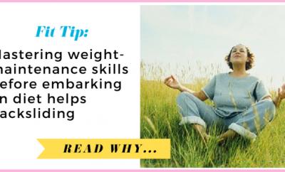 Mastering weight-maintenance skills before embarking on diet helps women avoid backsliding  via TheWeighWeWere.com