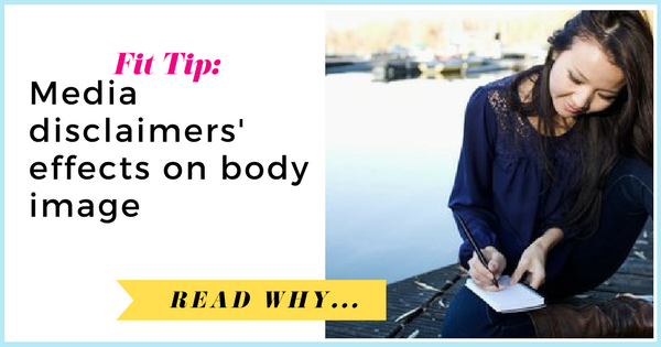 Chapman University research on media disclaimers' effects on body image  via TheWeighWeWere.com