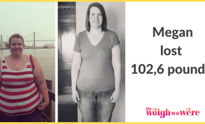 Before and After PCOS – Megan's 102.6 Pound Weight Loss Journey