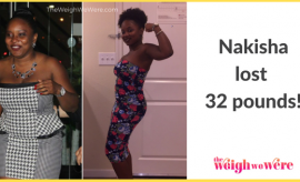 Read her story for inspiration! Black women before and after weight loss transformation. African American female fitness motivation workout photos and pictures. 30, 40, 50, 60, 100 pound weightloss Nakisha Lost 32 Pounds