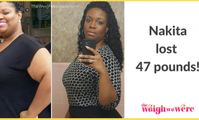 Read her story for inspiration! Black women before and after weight loss transformation. African American female fitness motivation workout photos and pictures. 30, 40, 50, 60, 100 pound weightloss Nakita Lost 47 Pounds