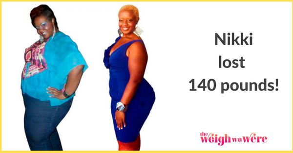 Read her story for inspiration! Black women before and after weight loss transformation. African American female fitness motivation workout photos and pictures. 30, 40, 50, 60, 100 pound weightloss Nikki Lost 140 Pounds