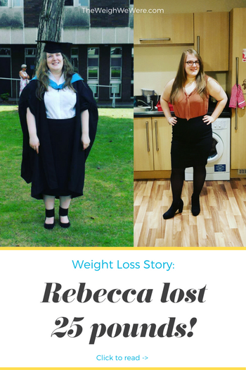 Rebecca lost 25 pounds! See my before and after weight loss pictures, and read amazing weight loss success stories from real women and their best weight loss diet plans and programs. Motivation to lose weight with walking and inspiration from before and after weightloss pics and photos.