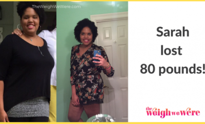 Read her story for inspiration! Black women before and after weight loss transformation. African American female fitness motivation workout photos and pictures. 30, 40, 50, 60, 100 pound weightloss Sarah Lost 80 Pounds