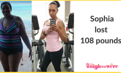 Read her story for inspiration! Black women before and after weight loss transformation. African American female fitness motivation workout photos and pictures. 30, 40, 50, 60, 100 pound weightloss Sophia Lost 108 Pounds