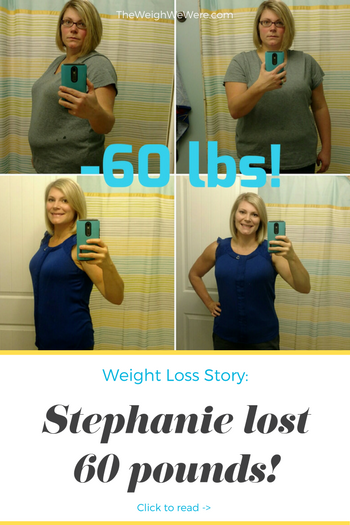 Stephanie lost 60 pounds! See my before and after weight loss pictures, and read amazing weight loss success stories from real women and their best weight loss diet plans and programs. Motivation to lose weight with walking and inspiration from before and after weightloss pics and photos.