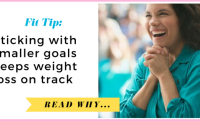 Sticking with smaller goals keeps weight loss on track| via TheWeighWeWere.com