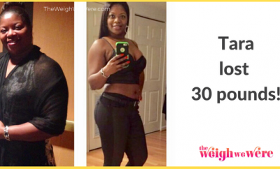 Read her story for inspiration! Black women before and after weight loss transformation. African American female fitness motivation workout photos and pictures. 30, 40, 50, 60, 100 pound weightloss Tara Lost 30 Pounds