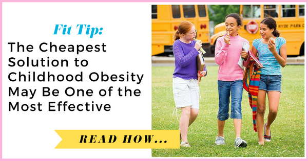 The Cheapest Solution to Childhood Obesity May Be One of the Most Effective| via TheWeighWeWere.com