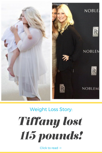 Tiffany lost 115 pounds! See my before and after weight loss pictures, and read amazing weight loss success stories from real women and their best weight loss diet plans and programs. Motivation to lose weight with walking and inspiration from before and after weightloss pics and photos.