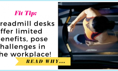Treadmill desks offer limited benefits, pose challenges in the workplace, study shows| via TheWeighWeWere.com
