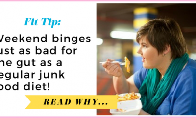 Weekend binges just as bad for the gut as a regular junk food diet, study suggests| via TheWeighWeWere.com