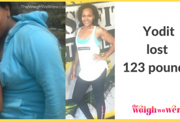 Read her story for inspiration! Black women before and after weight loss transformation. African American female fitness motivation workout photos and pictures. 30, 40, 50, 60, 100 pound weightloss Yodit Lost 123 Pounds