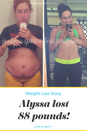 Alyssa lost 88 pounds! See my before and after weight loss pictures, and read amazing weight loss success stories from real women and their best weight loss diet plans and programs. Motivation to lose weight with walking and inspiration from before and after weightloss pics and photos.