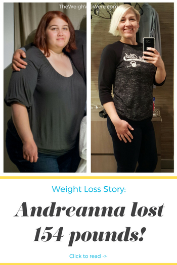Andreanna lost 154 pounds! See my before and after weight loss pictures, and read amazing weight loss success stories from real women and their best weight loss diet plans and programs. Motivation to lose weight with walking and inspiration from before and after weightloss pics and photos.