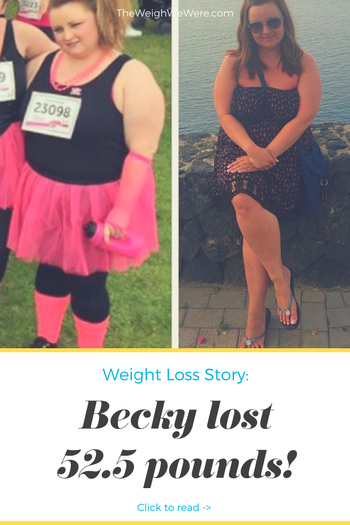 Becky lost 52.5 pounds! See my before and after weight loss pictures, and read amazing weight loss success stories from real women and their best weight loss diet plans and programs. Motivation to lose weight with walking and inspiration from before and after weightloss pics and photos.