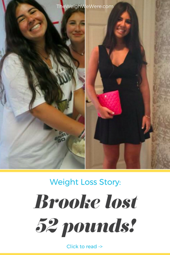 Brooke lost 52 pounds! See my before and after weight loss pictures, and read amazing weight loss success stories from real women and their best weight loss diet plans and programs. Motivation to lose weight with walking and inspiration from before and after weightloss pics and photos.