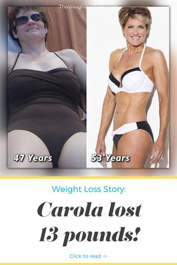 Carola Lost 13 Pounds