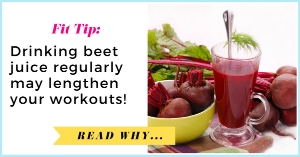 Drinking beet juice regularly may lengthen your workouts| via TheWeighWeWere.com