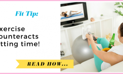 Exercise counteracts sitting time| via TheWeighWeWere.com