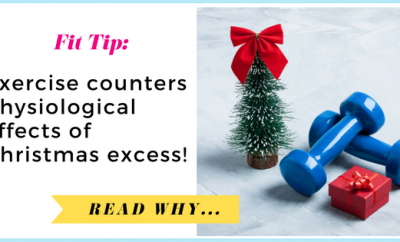 Exercise counters physiological effects of Christmas excess| via TheWeighWeWere.com