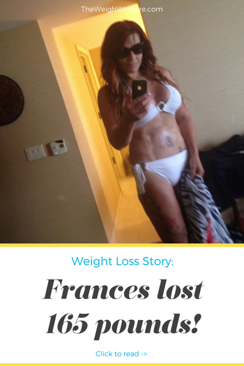 Frances lost 165 pounds! See my before and after weight loss pictures, and read amazing weight loss success stories from real women and their best weight loss diet plans and programs. Motivation to lose weight with walking and inspiration from before and after weightloss pics and photos.
