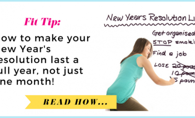 How to make your New Year's resolution last one year, not one month| via TheWeighWeWere.com