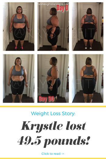 Krystle lost 49.5 pounds! See my before and after weight loss pictures, and read amazing weight loss success stories from real women and their best weight loss diet plans and programs. Motivation to lose weight with walking and inspiration from before and after weightloss pics and photos.