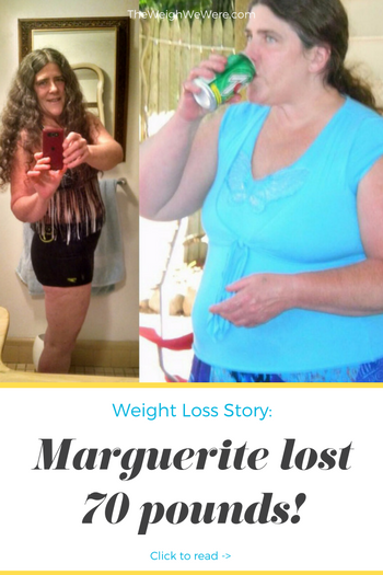 Marguerite lost 70 pounds! See my before and after weight loss pictures, and read amazing weight loss success stories from real women and their best weight loss diet plans and programs. Motivation to lose weight with walking and inspiration from before and after weightloss pics and photos.