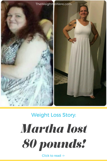 Martha lost 80 pounds! See my before and after weight loss pictures, and read amazing weight loss success stories from real women and their best weight loss diet plans and programs. Motivation to lose weight with walking and inspiration from before and after weightloss pics and photos.