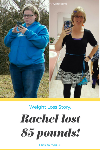 Rachel lost 85 pounds! See my before and after weight loss pictures, and read amazing weight loss success stories from real women and their best weight loss diet plans and programs. Motivation to lose weight with walking and inspiration from before and after weightloss pics and photos.