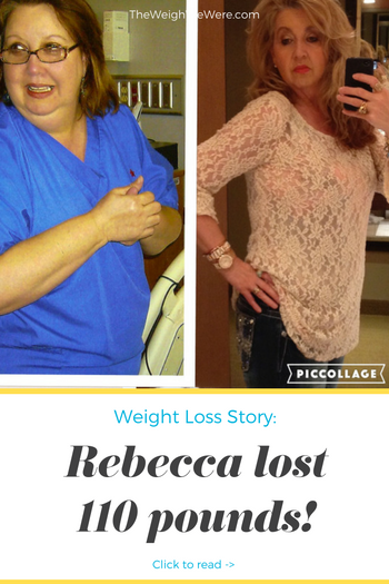 Rebecca lost 110 pounds! See my before and after weight loss pictures, and read amazing weight loss success stories from real women and their best weight loss diet plans and programs. Motivation to lose weight with walking and inspiration from before and after weightloss pics and photos.