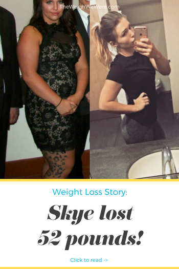 Skye lost 52 pounds! See my before and after weight loss pictures, and read amazing weight loss success stories from real women and their best weight loss diet plans and programs. Motivation to lose weight with walking and inspiration from before and after weightloss pics and photos.