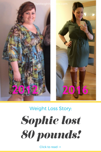 Sophie lost 80 pounds! See my before and after weight loss pictures, and read amazing weight loss success stories from real women and their best weight loss diet plans and programs. Motivation to lose weight with walking and inspiration from before and after weightloss pics and photos.