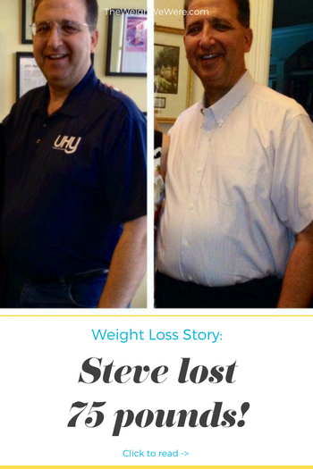 I lost 75 pounds! Read my weight loss success story and see my before and after weight loss pictures at the website The Weigh We Were. Hundreds of success stories, articles and photos of weight loss diet plans for men, tips for how to lose weight for men. Build muscle and lose belly fat with healthy male weight loss transformation pics for inspiration!