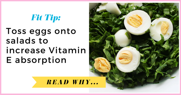 Toss eggs onto salads to increase Vitamin E absorption| via TheWeighWeWere.com